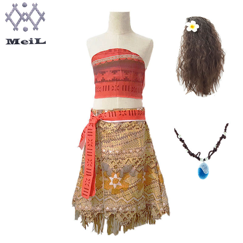 Robe Moana aventure pour filles, tenue de plage, Costumes d'été Moana vaiana, vêtements de fête Cosplay princesse, pour enfants
