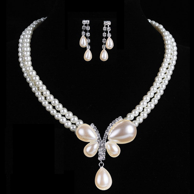 Bridal Simulated Pearl Jewelry Set