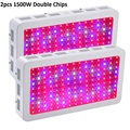 2pcs BOSSLED 1500W Double Chips LED Grow Light Full Spectrum 410-730nm For Indoor Plants and Flower Phrase Very High Yield
