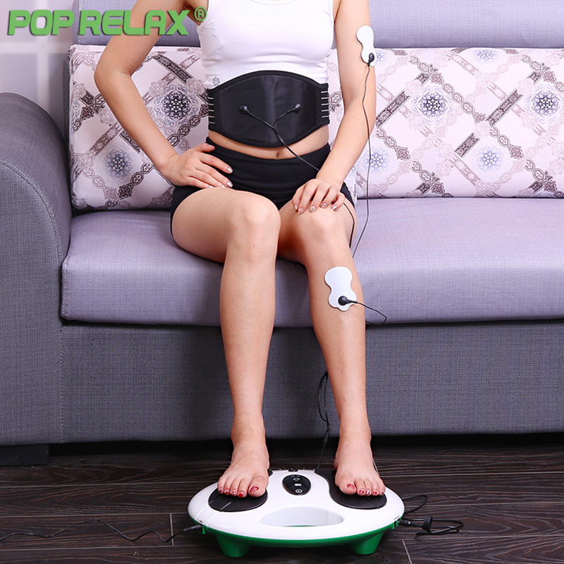 все цены на Pop Relax Electric Foot Massager Slimmer Muscle Stimulator Foot Massage Patch Electrodos Pad Physiotherapy Tens Machine Massage