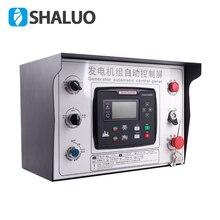 Een set Diesel generator set Automatische schakelkast Automatische start stop bescherming 6120U 6110U controller ATS een set