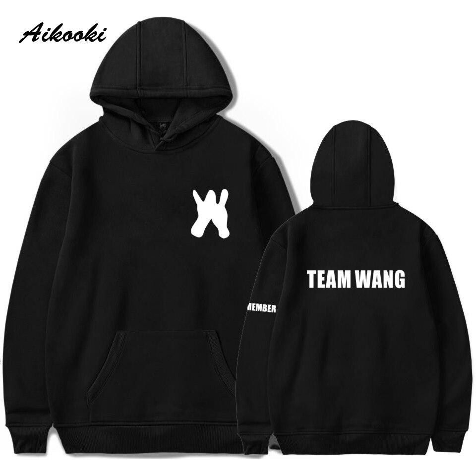 Aikooki GOT7 Jackson Moleton Cotton Team Wang Hoodies Sweatashairt Men/Women Korean Team Wang Tracksuit Harajuku Boys/girls Coat
