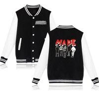 BTS Kpop BIGBANG MADE Baseball Jacket Coat Autumn Winter Fashion Hip Hop Long Sleeve Fleece Sweatshirt