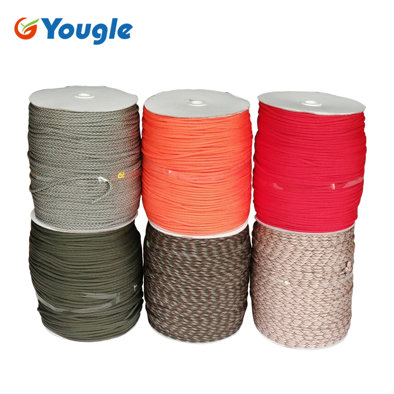 YOUGLE 1000FT 550 Paracord Parachute Cord Lanyard Rope Woven rope Mil Spec Type III 7 Strand Core Tent Accessories 805 001 16m10 2pa circular mil spec ] mr li