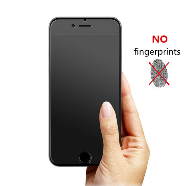 No Fingerprint Tempered Glass Screen Protector For iphone X XR XS Max 8 7 Plus 6S 5s SE Frosted Glass Protective Film matte glas