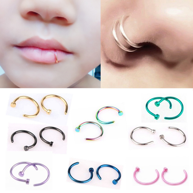 Hot Sale 1pc Fashion Titanium Steel Nose Ring Stainless Steel Nose