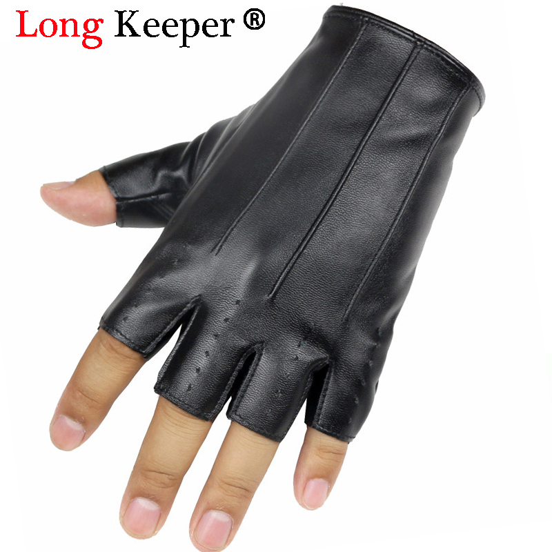 Long Keeper Male Cool Leather Gloves Fashion Men