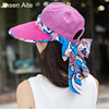 2017 New Fashion Double Sided Wear Bowknot Summer Sun Hat Beautiful Women Beach Hat Large Brimmed