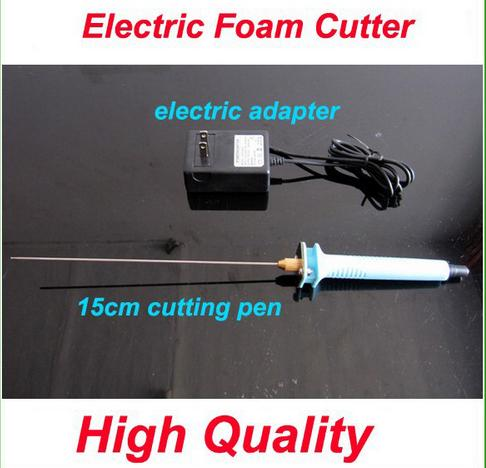 Free shipping 1pc 15cm Electric Foam Hot Knife Styrofoam Cutter Pen+ Electronic Voltage Transformer Adapter (EU plug available) craft hot knife styrofoam cutter 1pc 10cm pen cuts foam kt board wax cutting machine electronic voltage transformer adaptor