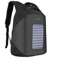 2017 New Men Backpack 10W Solar Powered Backpack Usb Charging Anti Theft 16 Laptop Backpack For