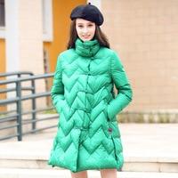 Новые однотонные женские пуховая куртка зимние женские длинное пальто Наполнитель белый утиный пух женские парки Длинные рукава Зимняя па