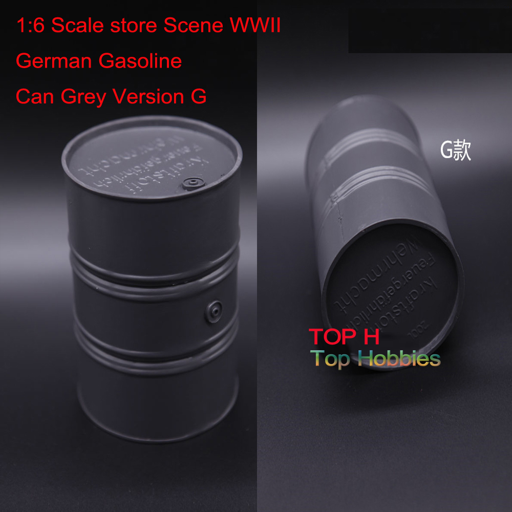1:6 Scale store Scene annex WWII German Gasoline Can 1/6 Grey Version G Model Fit 12 Inch Action Figure Use 1 30 wwii german mechanized forces captured the urban combat scenarios alloy model suits the scene fm