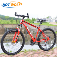 Mountain bike 26 inch aluminum alloy 21 speed bicycle dual disc brakes and variable speed road bike bikes Russian warehouse