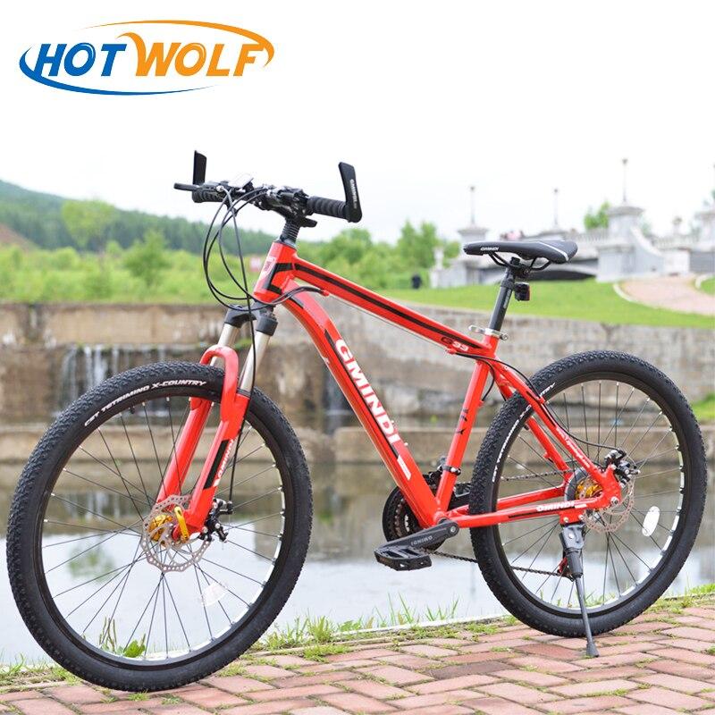 VTT 26 pouces en alliage d'aluminium 21 vitesses vélo double freins à disque et vélo de route à vitesse variable vélos entrepôt russe