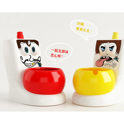 HS020 Fashion ash tray Big eyes Toilet design wate...