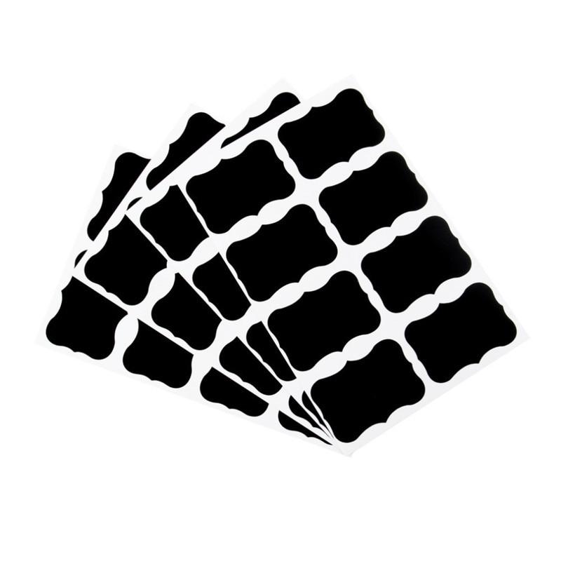 40pcs/set 5x3.5cm Erasable Blackboard Sticker Craft Kitchen Jars Organizer Labels Chalkboard Chalk Board Sticker Black Board40pcs/set 5x3.5cm Erasable Blackboard Sticker Craft Kitchen Jars Organizer Labels Chalkboard Chalk Board Sticker Black Board