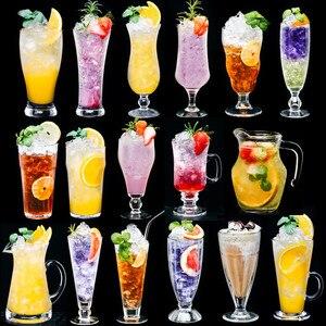 Креативная чашка для стакана для коктейля чашки сока стеклянная чашка для бара летняя Песочная чашка для мороженого посуда для напитков пи...
