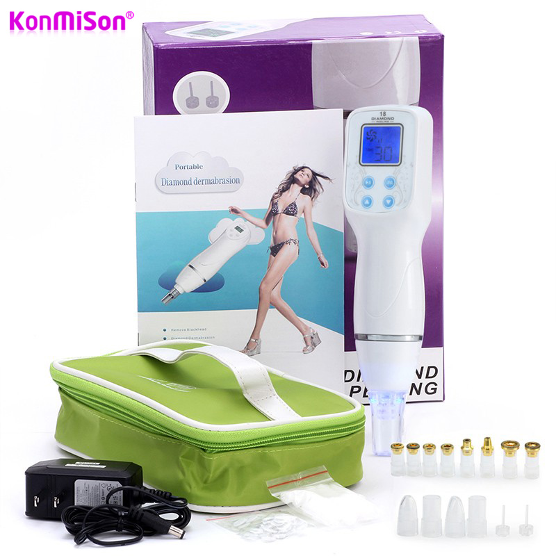 Konmison Diamond Microdermabrasion Beauty Machine Diamond Peeling Dermabrasion Removal Blackhead Scar Acne Pore Facial Cleansing