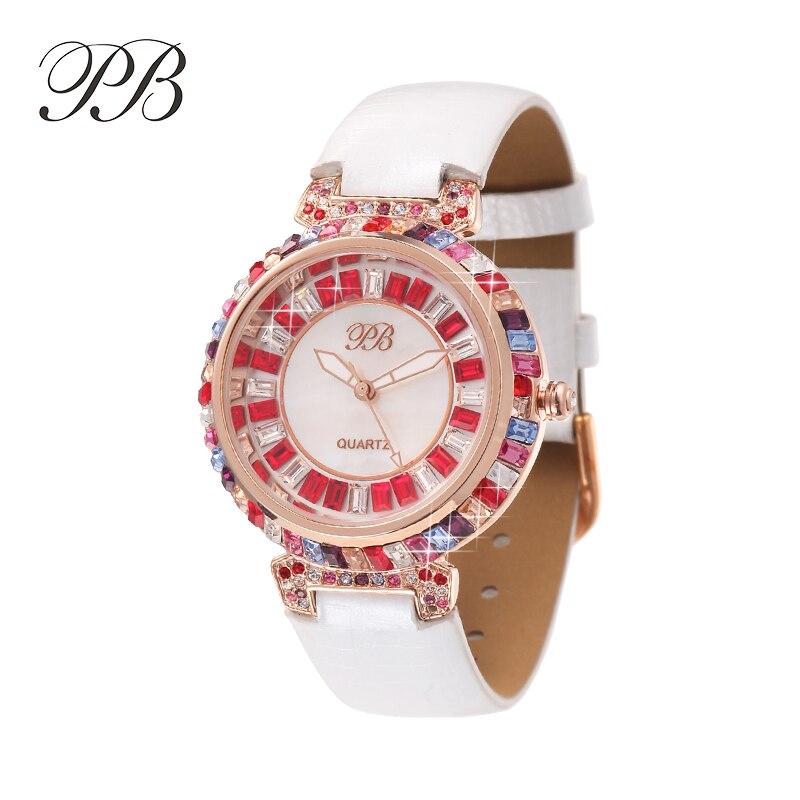 ФОТО 2016 Hot Sale Famous PB Brand Princess Butterfly Luxury Women Watch Crystal Watch Lady Sapphire Rhinestone Wrist Watch