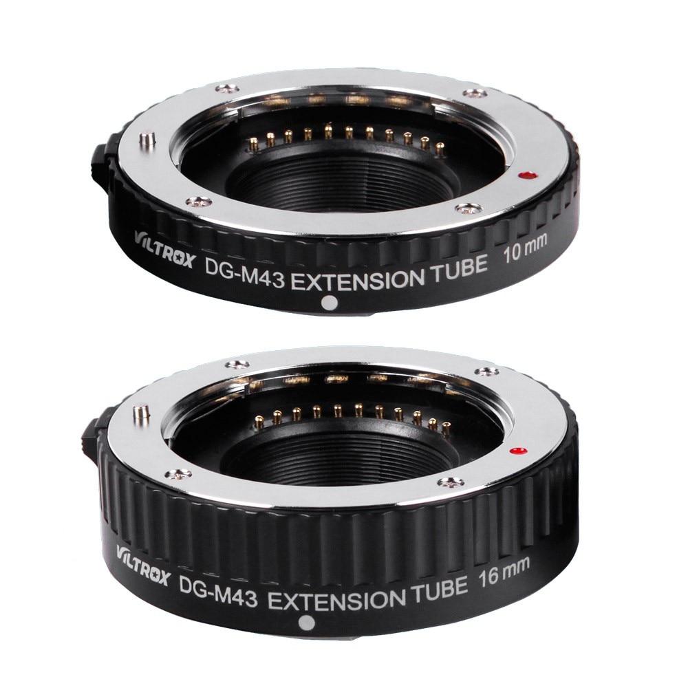 Viltrox DG Tube 10mm 16mm Set Ring Metal Mount Auto Focus Macro Extension Tube Set For Micro 4/3 M4/3 Camera Lens Mount DG-M43