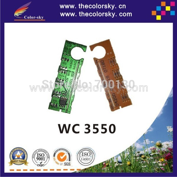 8PCS/Lot Toner Cartridge Reset Chip for <font><b>Xerox</b></font> WorkCentre WC <font><b>3550</b></font> 106R01528 106R01529 106R01530 106R01531 5k/11k (TY-X3550) image