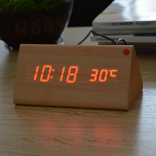 Sounds Control Digital Clock With Calendar & Thermometer
