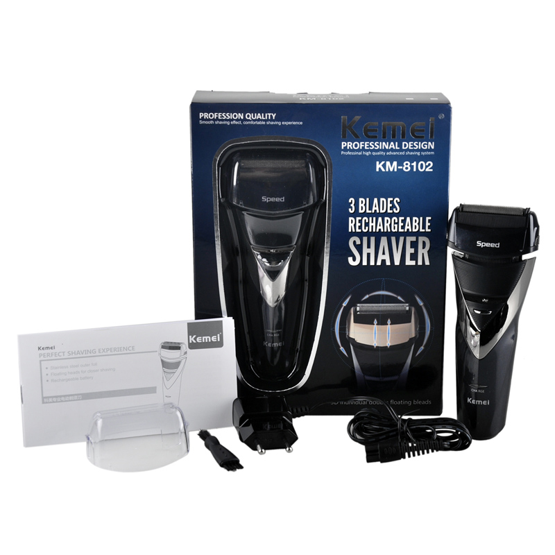 Kemei KM-8102 electric shaver rechargeable shaveing for man shavers body wash twin blade cutter head men face care Shaver razor new brand kemei km a588 electric shavers razor blades travel use safety professional shaver for man maquina de afeitar electrica