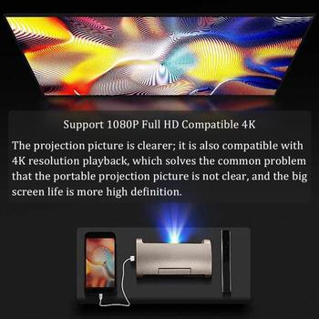 home cinema system audio Portable Smart WiFi Mini HD 1080P Projector HDMI Home Theater for Apple/Android/IOS/PC video playback