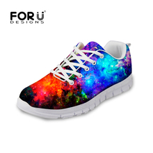 2016 Casual Galaxy Star Shoes for Women Comfortable Trainer Breathable Ladies Flat Walking Shoes Zapatillas mujer