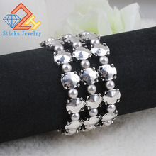 New arrival! Wholesale vintage quality alloy wide stretch bracelet, retro, antique jewelry, free shipping