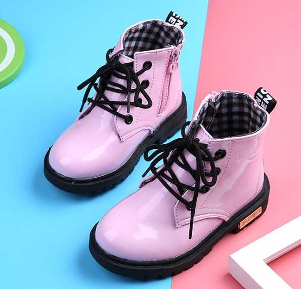 2019 รองเท้าเด็กใหม่รองเท้า PU หนังกันน้ำหนังรองเท้าเด็กรองเท้าหนังเด็กรองเท้าแฟชั่นรองเท้าผ้าใบ