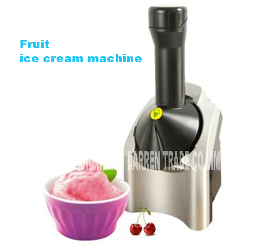 B7 220V Fruit Automatic Ice Cream Maker Ice Cream Machine Mini Electric Family Children's DIY Ice Cream Fresh summer 200W