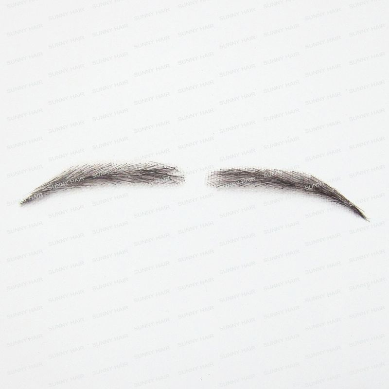 0103 hand made human hair man false eyebrow black color hand knot fake eyebrow