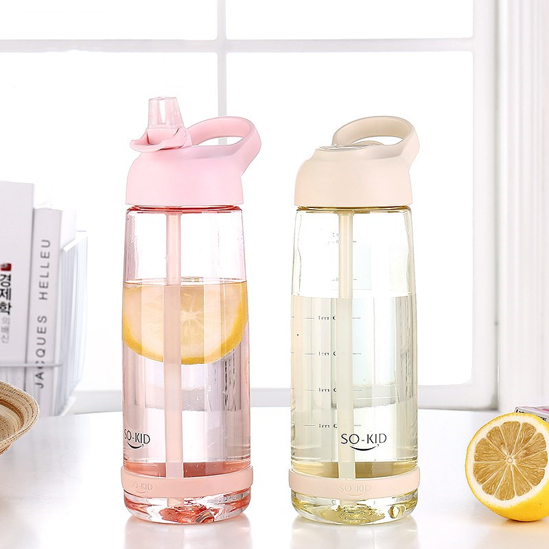 New Design Sports Water Bottle With Straw Portable Travel Bicycle Handle Sports Bottles Healthy Plastic Drinkware BPA FreeNew Design Sports Water Bottle With Straw Portable Travel Bicycle Handle Sports Bottles Healthy Plastic Drinkware BPA Free
