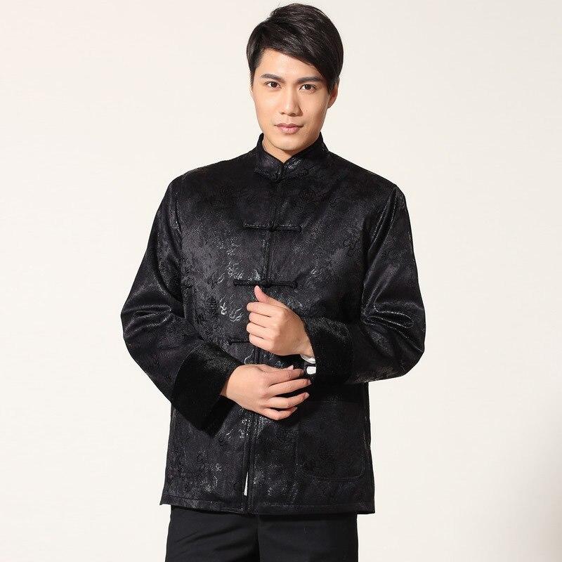 Traditionnel chinois Qipao chemise haute marié hommes Cheongsam Tang Vintage hommes aîné vêtements veste Vetement Homme manteau d'hiver chine