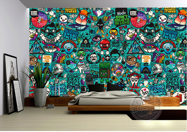 Wallpaper Murals Wall Picture More Detailed Picture About Custom Kids Wallpaper Graffiti