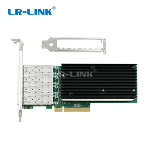 Image 3 - LR LINK 9804BF 4SFP+ quad port 10gb ethernet adapter PCI Express fiber optic network card nic INTEL XL710 Compatible XXV710 DA1
