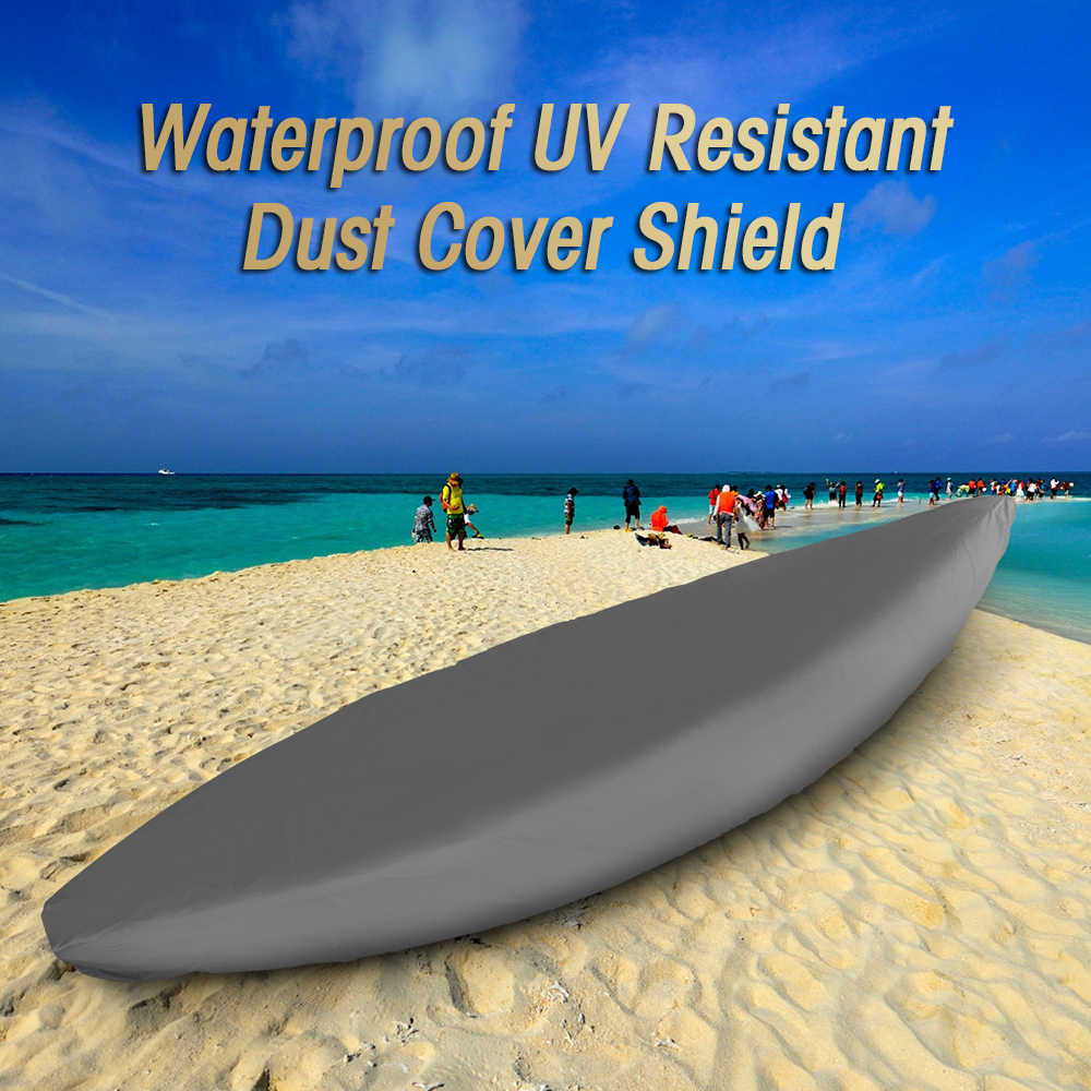 Professional Universal Boat Cover Kayak Canoe Boat Waterproof UV Resistant Dust Storage Cover Shield Boat Cover kayak equipments