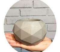 PRZY silicone molds 3d Geometric shape vase mold food grade silicone mould flower pot mold for concrete handmade Cement molds