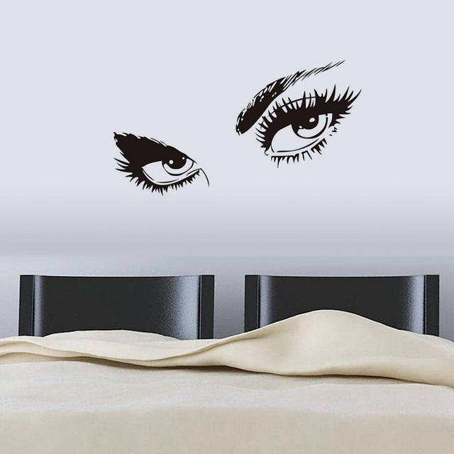 Vogue Audrey Wall Sticker Hepburn S Eyes Vinyl Decals Waterproof Window