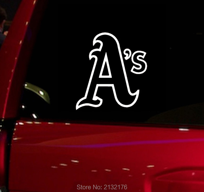 Mlb athletics auto window sticker as decal for car truck suv decal 5 5 car windows vinyl die cut sticker white in car stickers from automobiles