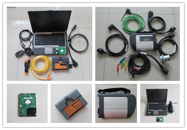 2019 Newest 2 IN 1 mb star c4 and for bmw icom a2 with software hdd 1TB with d630 laptop ready to use diagnosis tool