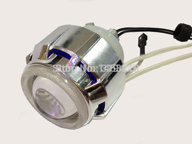 2.0ABT 2'' inch 35w Bi hid projector lens light blue white red double angel eyes H4 6000k 4300K 8000k + 1pc ballast zt01 2 5 35w 3000lm 4300k hid angle eyes projector lens car xenon light silver pairs