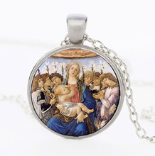 Virgin Mary Statue Necklace our lady