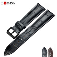 ZLIMSN Watches Genuine Leather Watchbands Bracelets Belt Suitable for Tissot 18mm 20mm 22mm watch band Metal Pin Buckle