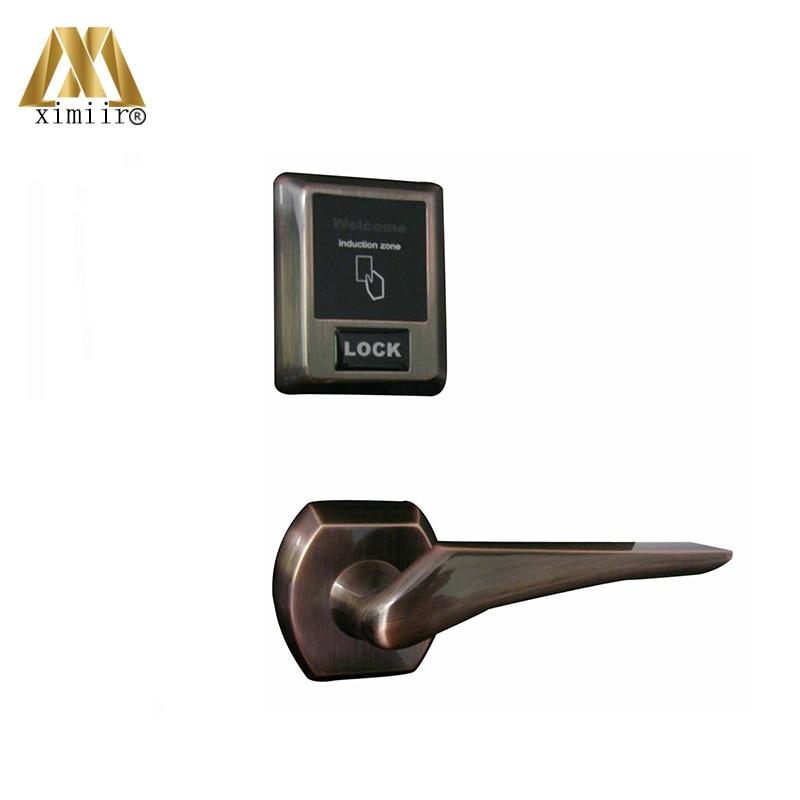 Home Office Smart Lock Mechanical Keys Card Door Lock HM 902 Hot Sale For Wooden Door Home Door Lock With RFID Card
