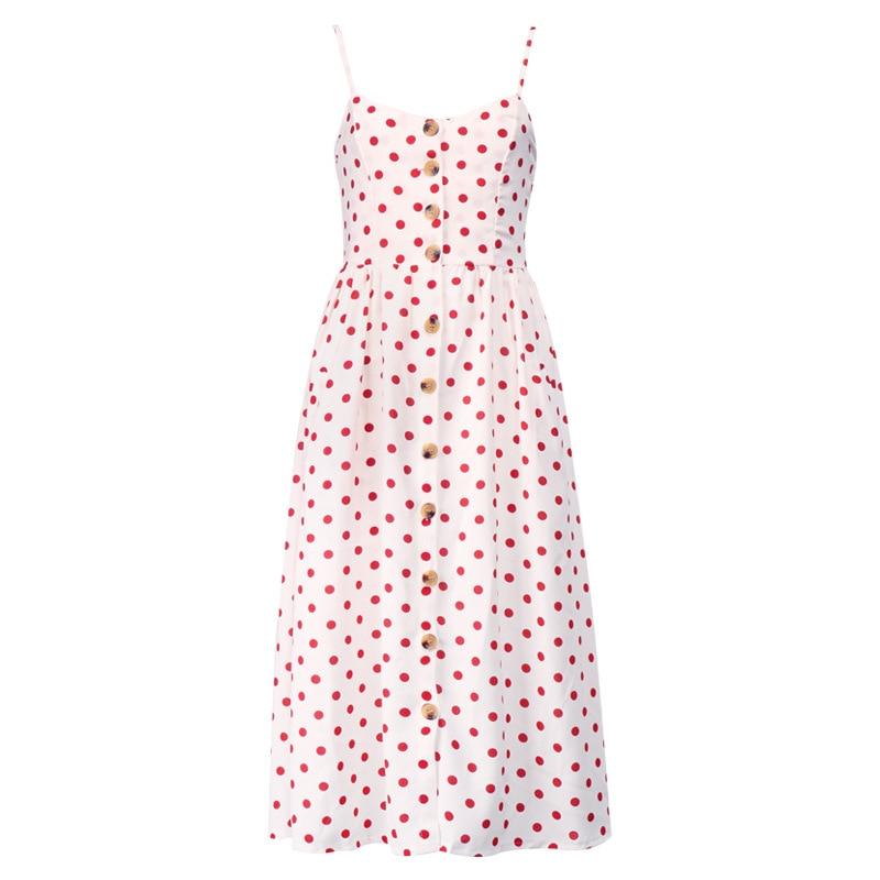 Button Striped Print Cotton Linen Casual Summer Dress 19 Sexy Spaghetti Strap V-neck Off Shoulder Women Midi Dress Vestidos 17