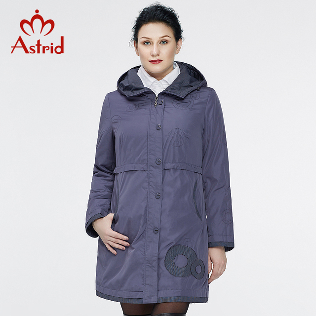 Астрид 2016 новых пальто для женщин Осенние пальто пальто Женская мода с длинным рукавом высокого качества с капюшоном плюс размер AS-9568