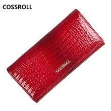 long women wallets genuine leather clutch purse crocodile pa