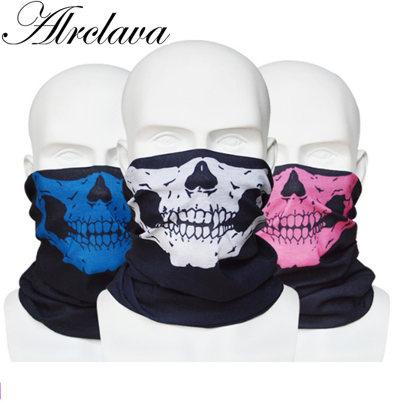 Headband Skull-Headwear Face-Mask-Tube Multifunctional-Bandana Cycling Sport Scarf